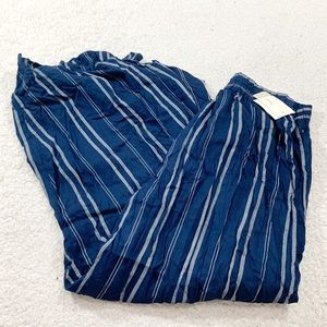 Japna navy tie waist high rise culottes pants